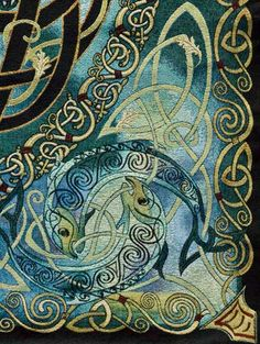 Celtic Fine Art Tapestry - Incredible detail and depth of colour Many fine items in gallery for sale, including garments Celtic Quilt, Celtic Symbols, Celtic Art, Celtic Knots, Celtic Mandala, Celtic Dragon, Mayan Symbols, Egyptian Symbols, Ancient Symbols