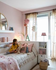 Ikea Kids Bedroom, Diy Bedroom Decor For Teens, Bedroom Decor For Teen Girls, Girl Bedroom Designs, Small Room Bedroom, My Room, Periwinkle Room, Baby Room Design, Aesthetic Room Decor