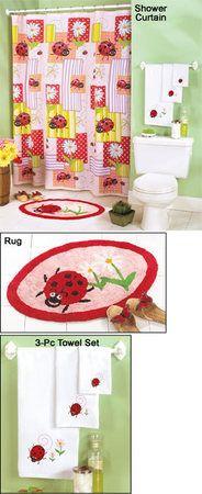 ladybug bathroom set - Google Search