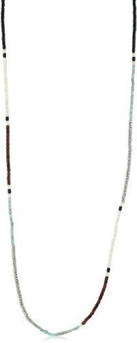 "Shashi ""Zen Collection"" White Gold Zen Necklace Shashi. $48.00. Made in India. Stone and brass bead necklace. One size fits all"