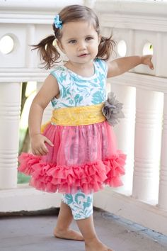 Giggle Moon Simply Stunning ``Mustard Seed`` Tutu Dress
