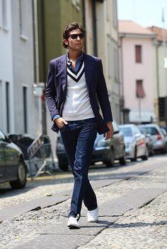 Blue & White #men #style #fashion