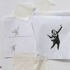 """Banksy on Instagram: """". I'm kind of glad the piece in Barton Hill got vandalised. The initial sketch was a lot better.."""" Banksy Photo, Graffiti History, Banksy Work, Some People, Contemporary Artists, Street Art, Initials, Balloons, Things To Think About"""
