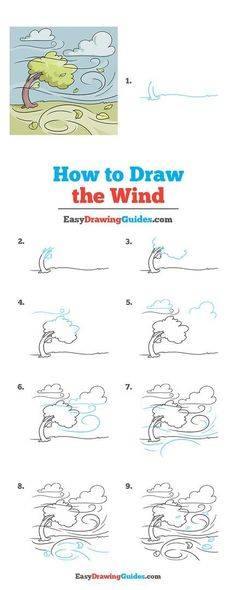Learn to draw the Wind. This step-by-step tutorial makes it easy. Kids and beginners alike can now draw a great wind.