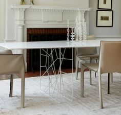 wire dining room table base - Google Search