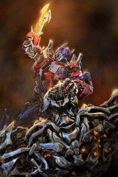 Transformers Optimus prime and Megatron showdown Gundam, Transformers Optimus Prime, Transformers Drawing, Gi Joe, The Villain, Comic Covers, Naha, Comics, Artwork
