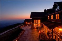 Mount Magazine Lodge or cabins.  What a view!