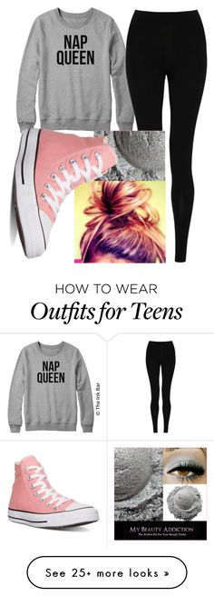"""First day back from break"" by glittterd on Polyvore featuring M&S Collection, Converse and letmesleep"
