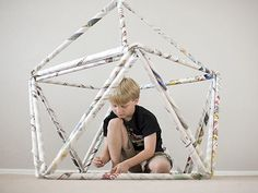 Learn how to make a unique fort out of newspaper w/ @PBS Parents!