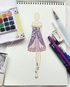Purple dress  #fashion #fashiondiaries #fashionblog #fashionweek #fashionillustration #fashionillustrator #fashionista #fashiondrawing #fashiondraw #fashionlook #lookbook #look #instafashion #purplehair #wedding #dress #weddingdress #instafashion #vscocam #vsco #art #fashiondesign