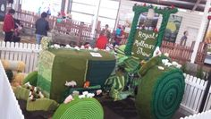 Yarn bombing at the Royal Melbourne Show 2013 tractor!