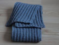 Handmade Men Scarf Blue Crochet scarf for men Unisex by SENNURSASA, $35.00