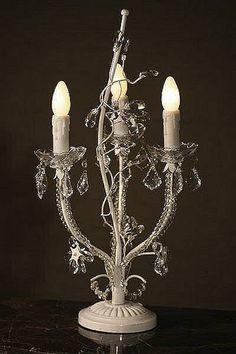 crystal chandelier lamp by foxbat living + fashion | notonthehighstreet.com
