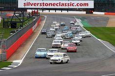 Race Start, Steve Soper, Ford Lotus Cortina leads