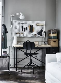 Ikea storage to the rescue of small rooms with storage issues. Home Office Storage, Home Office Decor, Ikea Office, Office Spaces, Ikea Workspace, Ikea Storage, Paper Storage, Space Saving Storage, Moving House