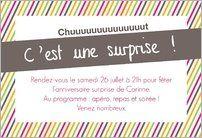 Invitation Anniversaire Surprise 60 Ans à Personnaliser En Ligne Et