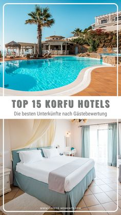 Korfu Urlaub Hotels ☆ Die 15 besten 4- und 5-Sterne Hotels auf der Insel Korfu nach Gästebewertungen ➨ Das sind die Top Korfu Hotels, ausgewählt anhand 6 Bewertungsplattformen ✓ Ideal für deine Griechenland Urlaubsplanung #greece #griechenland #urlaub #hotels #korfu #greekislands #corfu