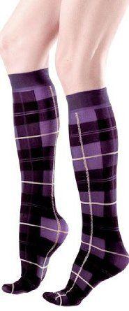 Plaid Knee High Purple Women's Trouser Socks Purpletopia. $7.95