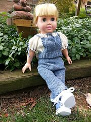 "Ravelry: nicannjones' Knitted Overalls and Pheasant Top for 18"" Doll"