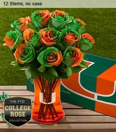 University of Miami Roses!!!! It's all about the U!!!! <3 <3 <3 <3 <3 Miami Hurricanes #theU