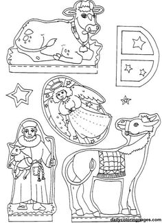 nativity diorama christmas coloring pages 07