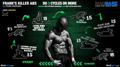 ABS routine !! Tips for better abs from Frank: 1-Take things slow 2-Set realistic goals 3-Don't forget about your breathing http://madbarz.com/