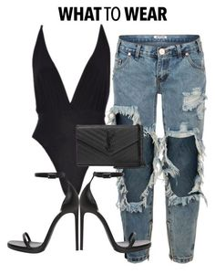 Details x online A fashion look from May 2016 by shopluxrb featuring One Teaspoon and Yves Saint Laurent Black Women Fashion, Look Fashion, Trendy Fashion, Womens Fashion, Fashion Trends, Fashion Ideas, Classy Outfits, Chic Outfits, Fashion Outfits