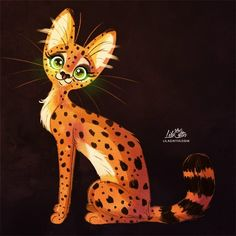 Serval by LilaCattis on DeviantArt Miraculous, Africa Painting, Serval Cats, Cats And Cucumbers, Herding Cats, Clumping Cat Litter, Fox And Rabbit, Owning A Cat, Siberian Cat