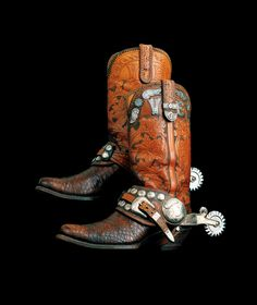 The Jack and Phoebe Cook American Cowboy Gallery - National Cowboy & Western Heritage Museum Cowboy Shoes, Cowboy And Cowgirl, Cowgirl Style, Cowgirl Boots, Cowboy Gear, Cowgirl Fashion, Western Style, Western Wear, Western Boots