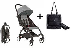 BabyZen YOYO Stroller - Black/Grey + BabyZen YoYo Premium Travel Bag, Black The Yoyo, the world's first luxury travel stroller, is the most compact, versatile Travel Bag, Baby Strollers, Car Seats, Black And Grey, Baby Products, Children, Baby Car, Nursery, Awesome