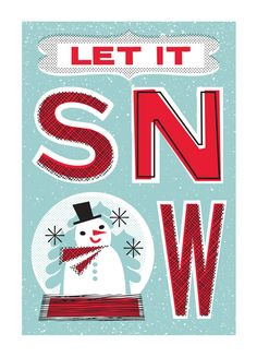 Let It Snow Globe / Holiday Cards from Lure Paper Goods