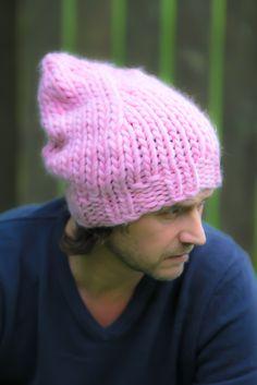 Big bonnet rose Handmade knitwear, wool, men, women, kids