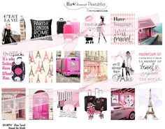 MP07 Glam Travel Around the World | Full Box Fashion & Makeup Stickers 18 Sized to fit Mambi Happy Planner, Erin Condren, Midori, etc