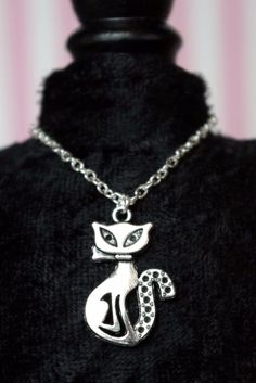 "Parisian Cat necklace for 10"" Patsy, Ann Estelle DoLLs, for 14"" Patience too! #Jewelry"