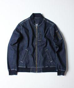 Boy Fashion, Mens Fashion, Fashion Trends, Shirt Jacket, Bomber Jacket, Raw Denim, Jacket Style, Refashion, Menswear