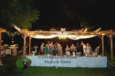 Entire Yard is Trellis - over guests, over food, for ceremony!