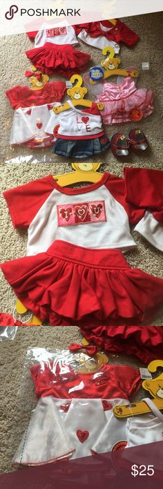 Love/valentines themed build a bear attire!!! Perfect for a child who loves red and pink and LOVE!! Great bundle of items. build a bear Other