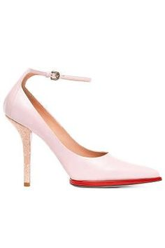 Fall and Winter Heels: Nina Ricci Pale Pink Pump With Ankle Strap