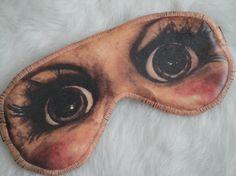 Freak Them Out Sleep Mask DEATH DOLL  by FreakyOldWoman on Etsy