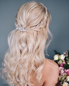 Long Wedding Hairstyle #bride #bridal #wedding #weddinghairstyles #hirstyles