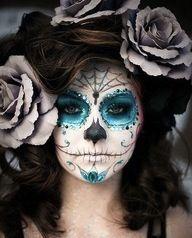 blue sugar skull costume | Sugar Skull