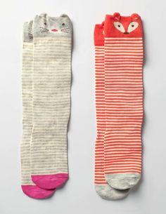 2 Pack Novelty Knee Socks Socks & Tights at Boden Skirts For Kids, Teachers Pet, Kids Socks, Knee High Socks, Mini Boden, Mini Me, Girls Accessories, Kids Wear, Kids Fashion