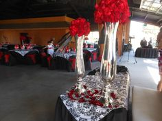 Red and Black damask at Park Place