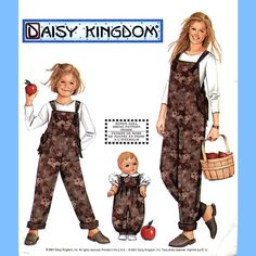 """360 Simplicity 9920 Womens & Girls Overalls 18"""" Doll Romper Child 3 4 5 6 7 8 Misses XS-XL Petite to Plus Size Daisy Kingdom Pattern Uncut by ladydiamond46 on Etsy"""