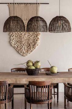 Bali beauty #diningroom #ceilinglights #rustic