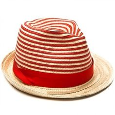 St Ives Braid Trilby - Hooped Cream