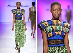 2015 Mercedes Benz Fashion Week Cape Town « Marianne Fassler Tags: African prints, Animal prints, Women's wear, pleating African Textiles, African Prints, Scrap Material, African Design, Sustainable Design, Animal Prints, Cape Town, African Fashion, Tartan