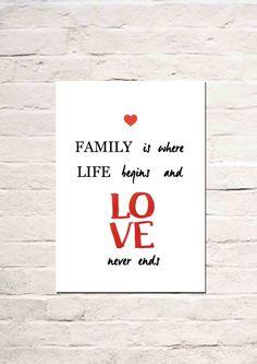Digitaldruck - Family is where... - ein Designerstück von Haus-nr-26 bei DaWanda