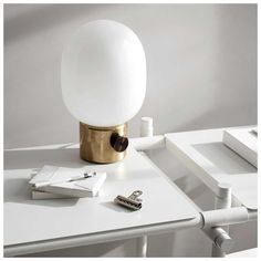 Menu JWDA Metallic Tafellamp   MisterDesign