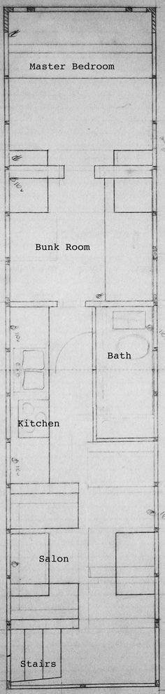 School Bus Conversion - Floor Plan